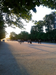 Jardin des Tuileries à Paris, 14 juillet 2016 vers 21h30